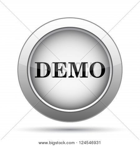 Demo icon. Internet button on white background.