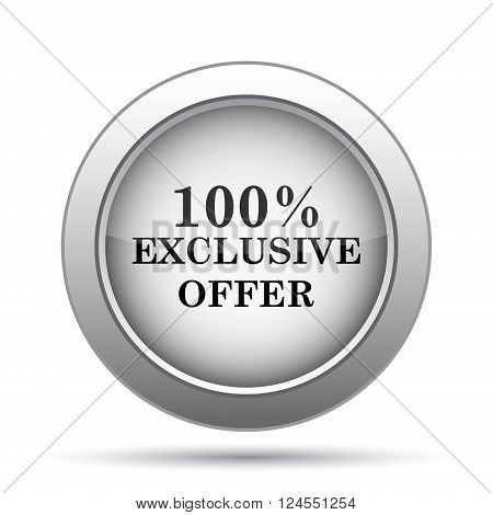 100% exclusive offer icon. Internet button on white background.