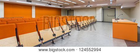 Modern University With New Classrooms