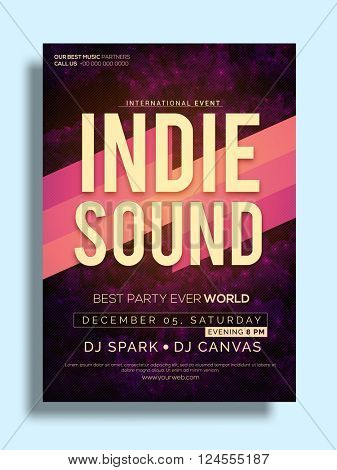 Best Party Flyer, Musical Party Template, Party Banner design with date and time details.