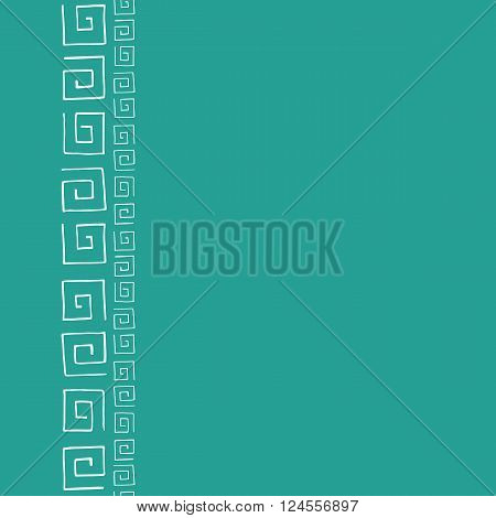Seamless pattern frame for text with white curlicues