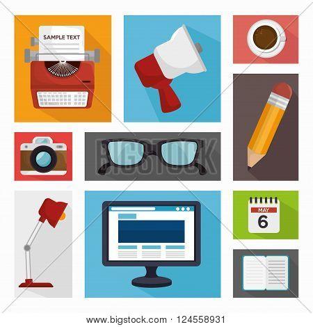 blog management  design, vector illustration eps10 graphic