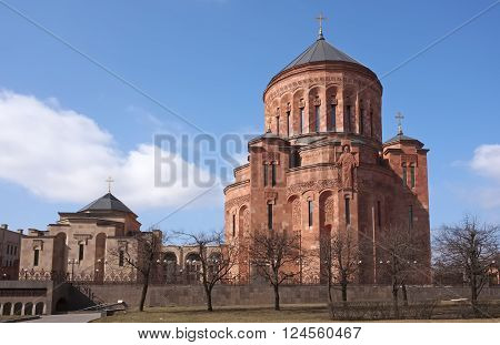 Armenian church complex in Moscow Cathedral of the Transfiguration of the Lord the residence of the Patriarchal Exarch Classical Armenian architecture