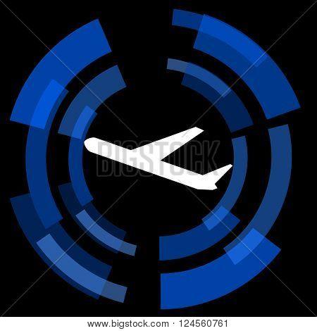 departures black background simple web icon