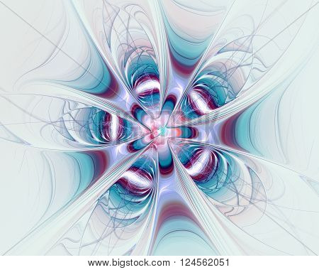 Abstract Fractal Design. Fictitious Flower.