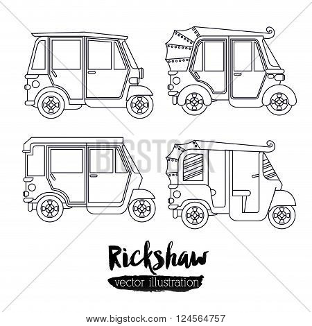 rickshaw transportation design, vector illustration eps10 graphic