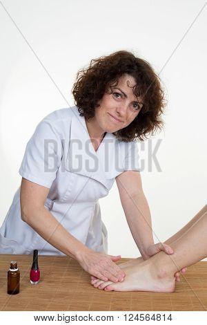 Woman Having A Pedicure Treatment At A Spa Or Beauty Salon