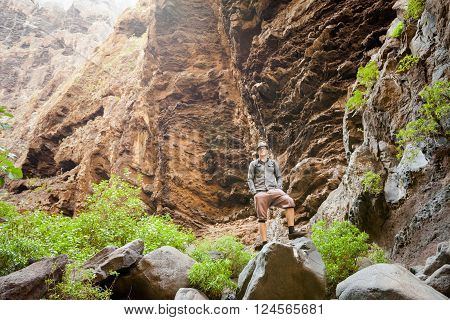 Young Man In Masca Valley