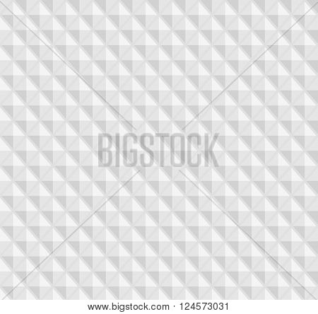 White seamless geometric pattern ribbed surface rhombs the figures the 3D effect vector.