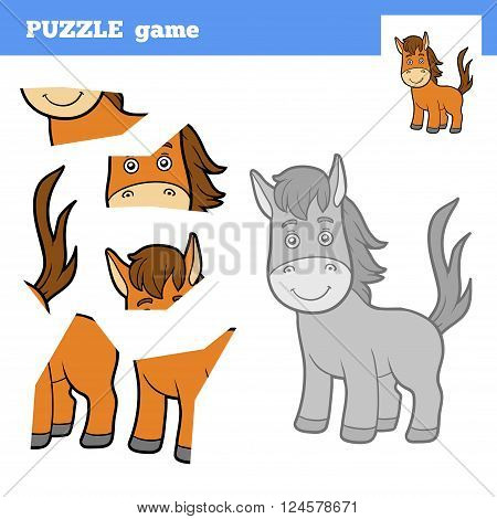 Puzzle Game For Children, Horse