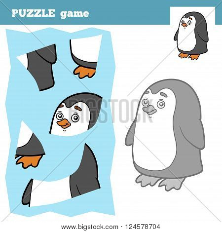 Puzzle Game For Children, Penguin
