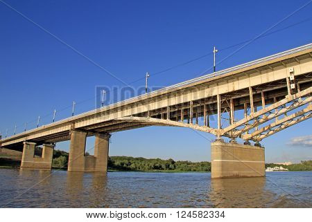 Omsk, Russia - June 21, 2010: Bridge Named After The 60Th Anniversary Of The Komsomol Over The Irtys