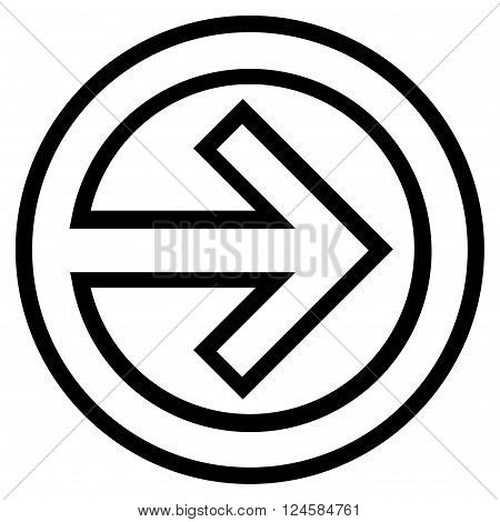 Import vector icon. Style is outline icon symbol, black color, white background.