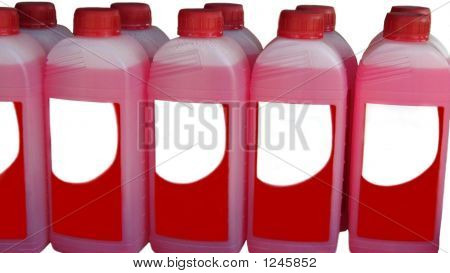 Bottles Of Cleaning Product. Bleach. Disinfectant.