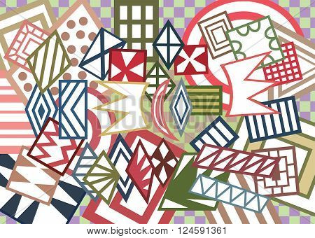 Vector colorful background with abstract geometric shapes.