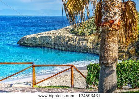 Balai shoreline on a clear day Sardinia