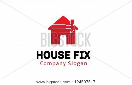 House Fix Creative And Symbolic Logo Design Illustration