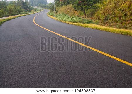 beautiful sun rising sky with asphalt highways road in rural scene use land transport and traveling backgroundbackdrop ** Note: Visible grain at 100%, best at smaller sizes