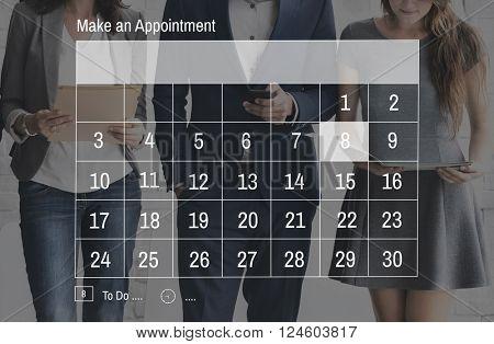Appointment Agenda Schedule Planner Concept