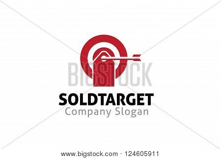 Sold Target Creative And Symbolic Logo Design Illustration