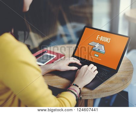 E-book E-Learning Electronic Internet Mobility Concept