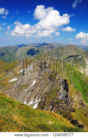 Alpine landscape in the Transylvanian Alps, Romania