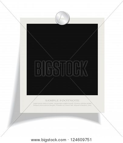 Blank instant photo frame isolated on white background