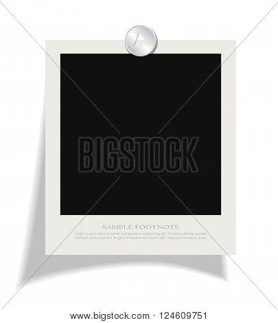 Blank instant photo frame isolated on white background