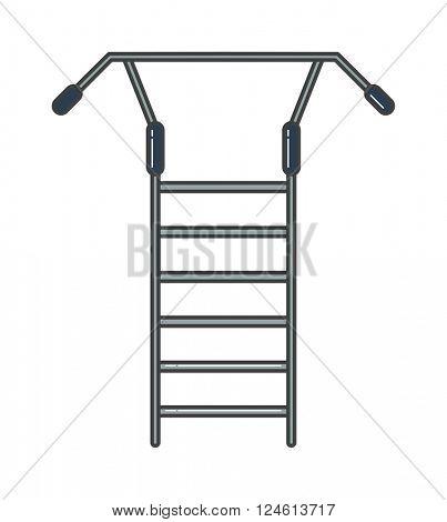 Swedish staircase sports gymnastics ladder or wall gym tool vector
