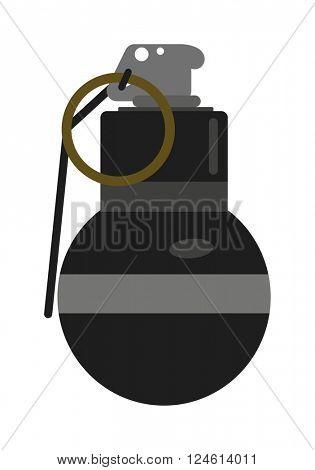 Hand grenade bomb explosion weapons vector.
