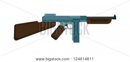 Submachine gun icon color silhouette vector illustration machine weapon
