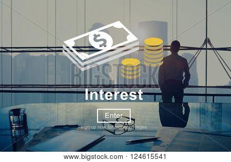 Interest Rates Economy Financial Percentage Concept