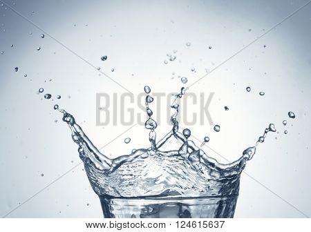 Water splashing from glass