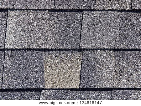 Roofing Shingles Gray Brown Tab Style Pattern