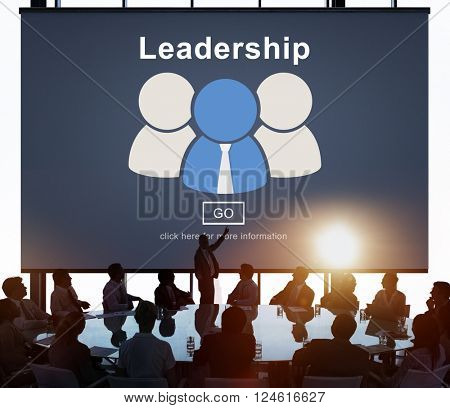 Leadership Boss Coach Director Authoritarian Concept