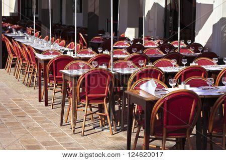 French sidewalk cafe restaurant provence South of France
