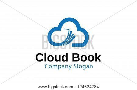 Cloud Book Creative And Symbolic Logo Design Illustration