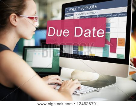 Due Date Deadline Schedule Calender Reminder To Do Concept
