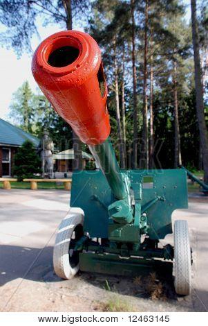 Canhão do exército soviético