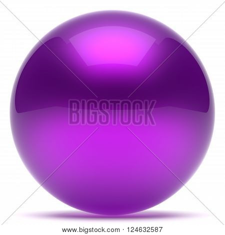 Purple sphere ball geometric shape round button basic circle solid figure simple minimalistic element single shiny glossy sparkling object blank balloon blue icon. 3d render