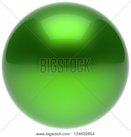 Sphere ball green push button circle round basic solid bubble figure geometric shape minimalistic simple atom element single shiny glossy sparkling object blank balloon icon. 3d render