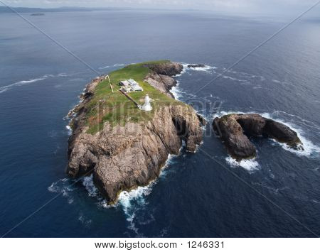 Aerial Island Lighthouse