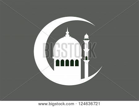 Ramadan kareem background vector white color eps 10