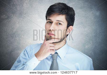 Portrait of a pensive business man