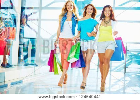 Shoppers in the mall