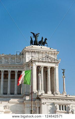 Detail of the Altare della Patria. Rome.