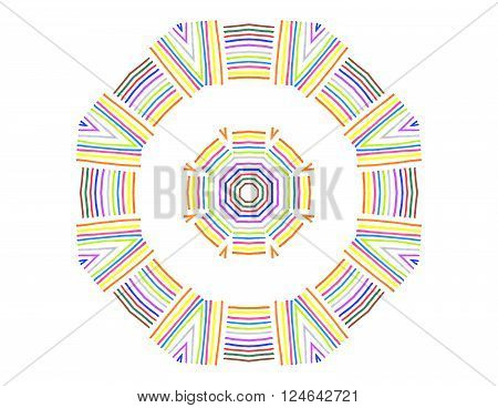 Abstract Concentric Shape From Color Lines