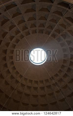 The interior of the Pantheon on August 6 2013 in Rome Italy.