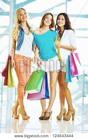 Shoppers with paperbags