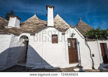 Traditional trulli houses Alberobello Puglia Southern Italy